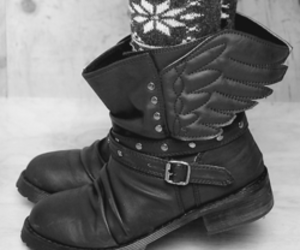 black, boots, and cool image