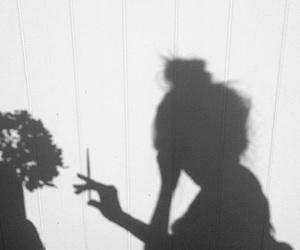 girl, ombre, and smoke image