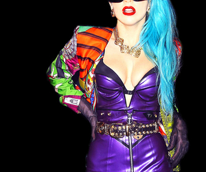 Lady gaga, gaga, and blue hair image