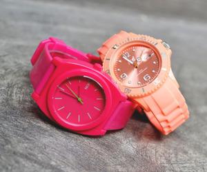 watch, pink, and fashion image
