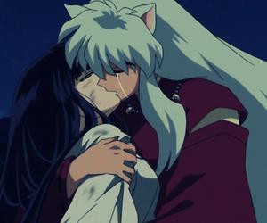 inuyasha, anime, and kiss image