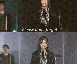 demi lovato, don't forget, and us image