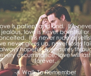 A Walk to Remember, love, and quote image