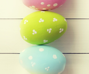 pink, eggs, and green image