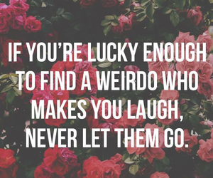quote, friends, and weirdo image