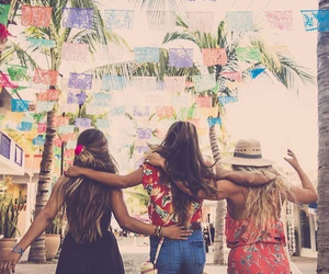 hippie, summer, and friends image