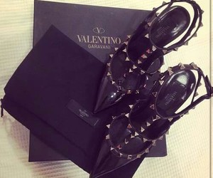 Valentino, black, and shoes image