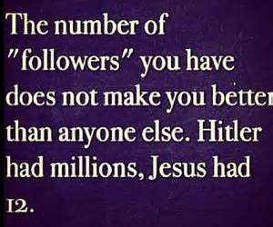 hitler, jesus, and followers image