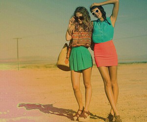 best friends, cute, and colorful image