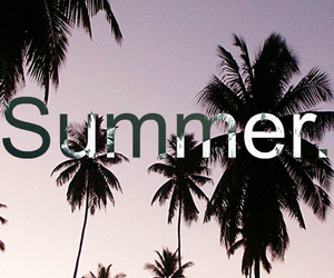 summer, girl, and palms image