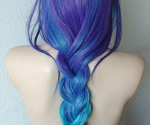 beauty, blue hair, and girl image