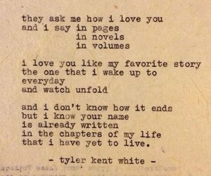 poetry, love, and tyler kent white image