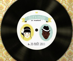 disc, save the date, and mariage image