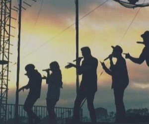 beautiful, sunset, and pentatonix image