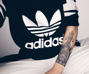 tattoo, adidas, and fashion image