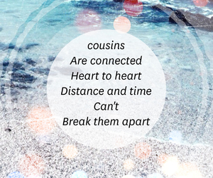 cousins, design, and distance image