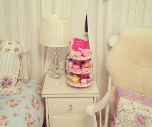 bed, girly, and pastel image