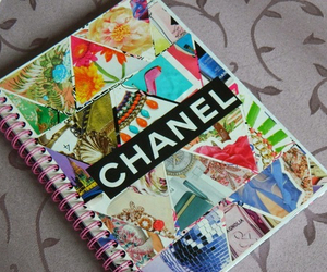 chanel, diy, and notebook image