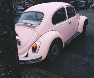 pink, car, and pastel image
