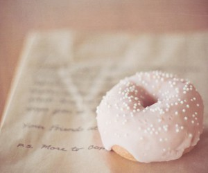 pink, donuts, and food image