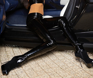 boots, high heels, and latex image