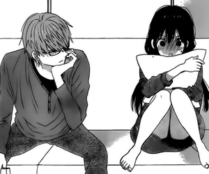 cute, couple, and manga image