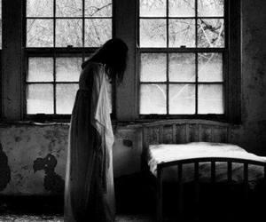 bed, creepy, and dark image