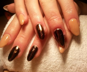 beige, long, and gold image
