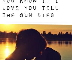 couple, kiss, and Lyrics image