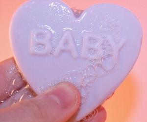 baby, bath, and heart image