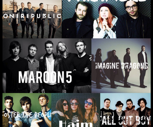 FOB, maroon 5, and paramore image