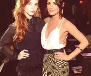 lucy hale, holland roden, and pretty little liars image
