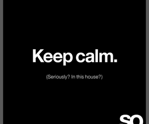 house, keep calm, and sarcasm image