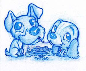 draw, dog, and disney image