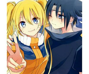 sasuke, cute, and blush image