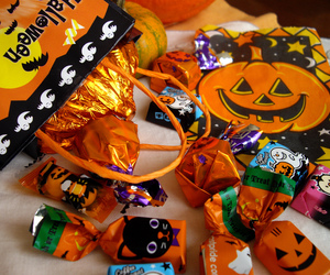 Halloween, candy, and trick or treat image