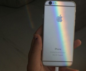 iphone, indie, and rainbow image