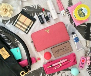 bag, makeup, and maquillage image