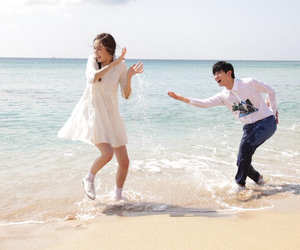 asia, beach, and couple image