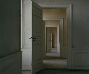 door, white, and interior image