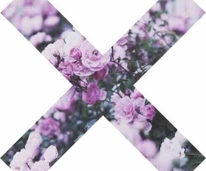 x, flowers, and purple image