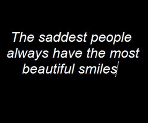 sad, smile, and quotes image