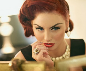 50's, make up, and rockabilly image