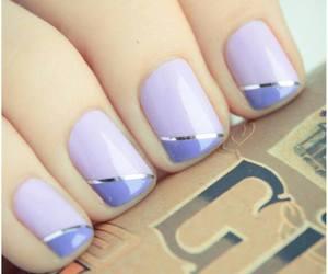 nailpolish, nails, and purple nails image