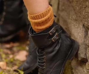 ankle boots, nature, and autumn image