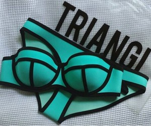 bikini, triangl, and summer image