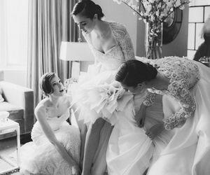 black and white, fashion, and wedding image