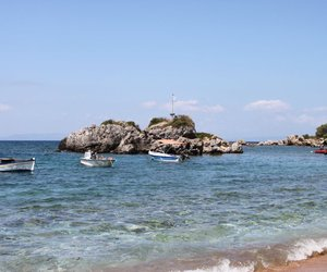 beach, Greece, and summer image