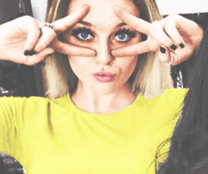 perrie edwards, little mix, and yellow image