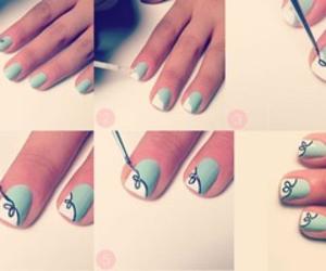 blanco, uñas, and verde image